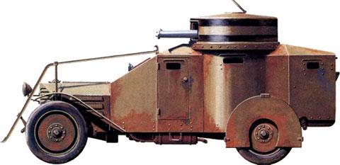 Бронеавтомобиль Ansaldo IZ фирмы «Лянчиа»