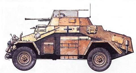 Легкий бронеавтомобиль SdKfz 222