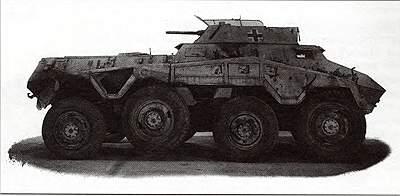 Тяжелый бронеавтомобиль SdKfz 234 (8-Rad)