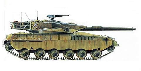 Основное боевые танки «Меркава» Mk 1 и Mk 2