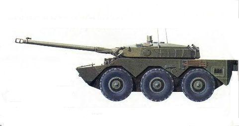 Бронированная разведывательная машина AMX-10RC